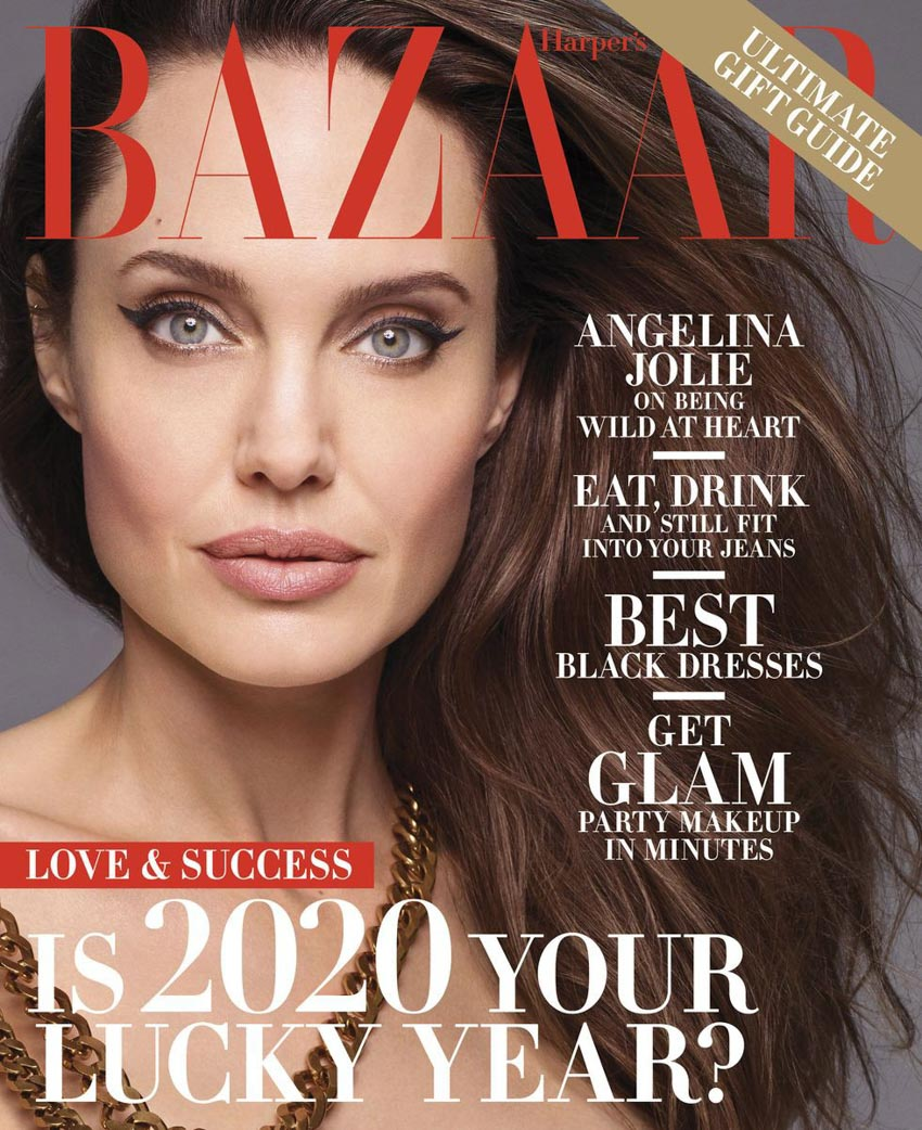 Angelina Jolie bất ngờ khỏa thân trên tạp chí Harper's Bazaar-6