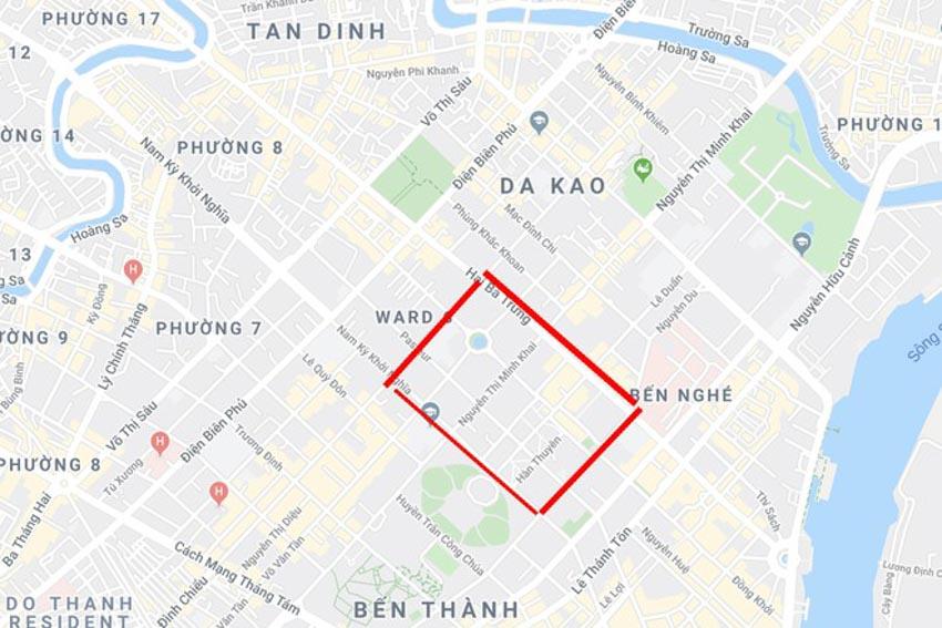 Cấm nhiều tuyến đường khu trung tâm TP.HCM-1