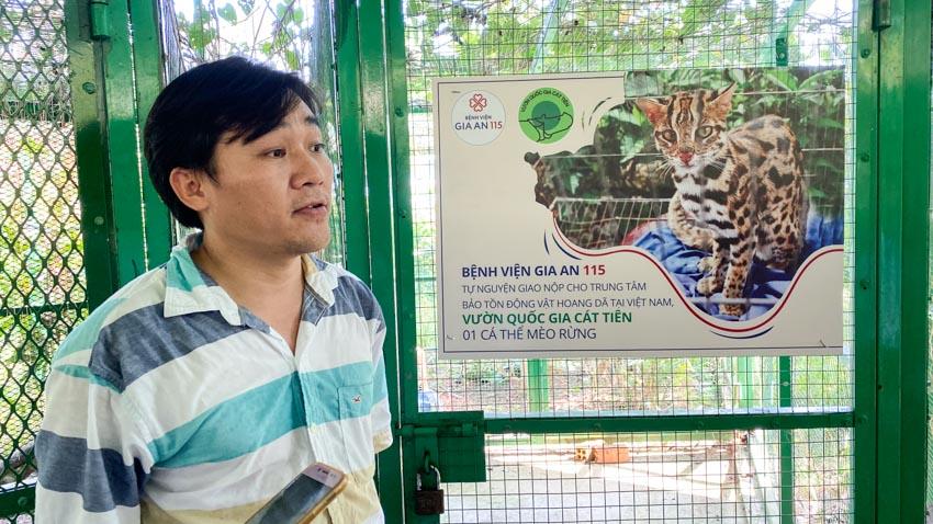 Giao trả mèo rừng quý hiếm về vườn quốc gia Cát Tiên -2