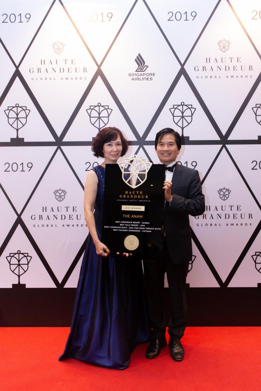 Khu nghỉ dưỡng The Anam được vinh danh tại Haute Grandeur Global Excellence Awards năm 2019-2