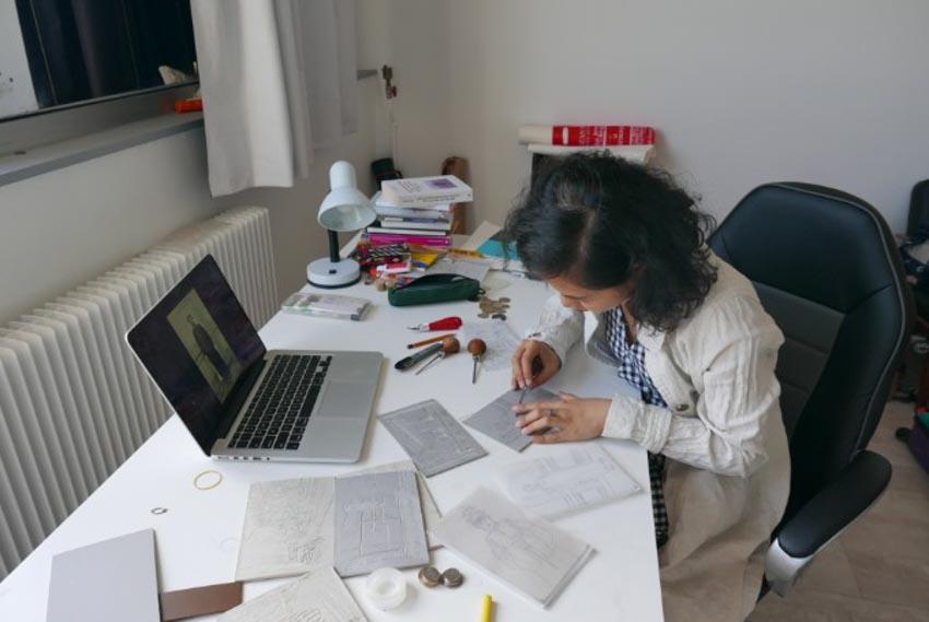 Nữ nghệ sĩ Việt chạm tới giấc mơ nghệ thuật ở Paris-4