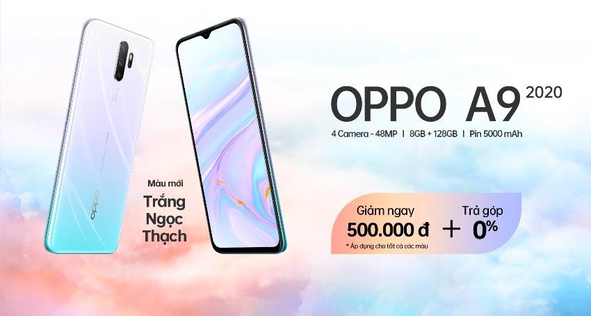 OPPO A9 2020 phiên bản màu Trắng Ngọc Thạch ra mắt tại Việt Nam -4