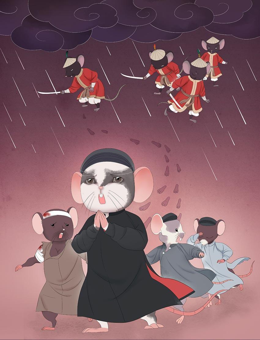 Tạo hình chuột độc đáo trong bộ lịch mừng năm mới 2020-1