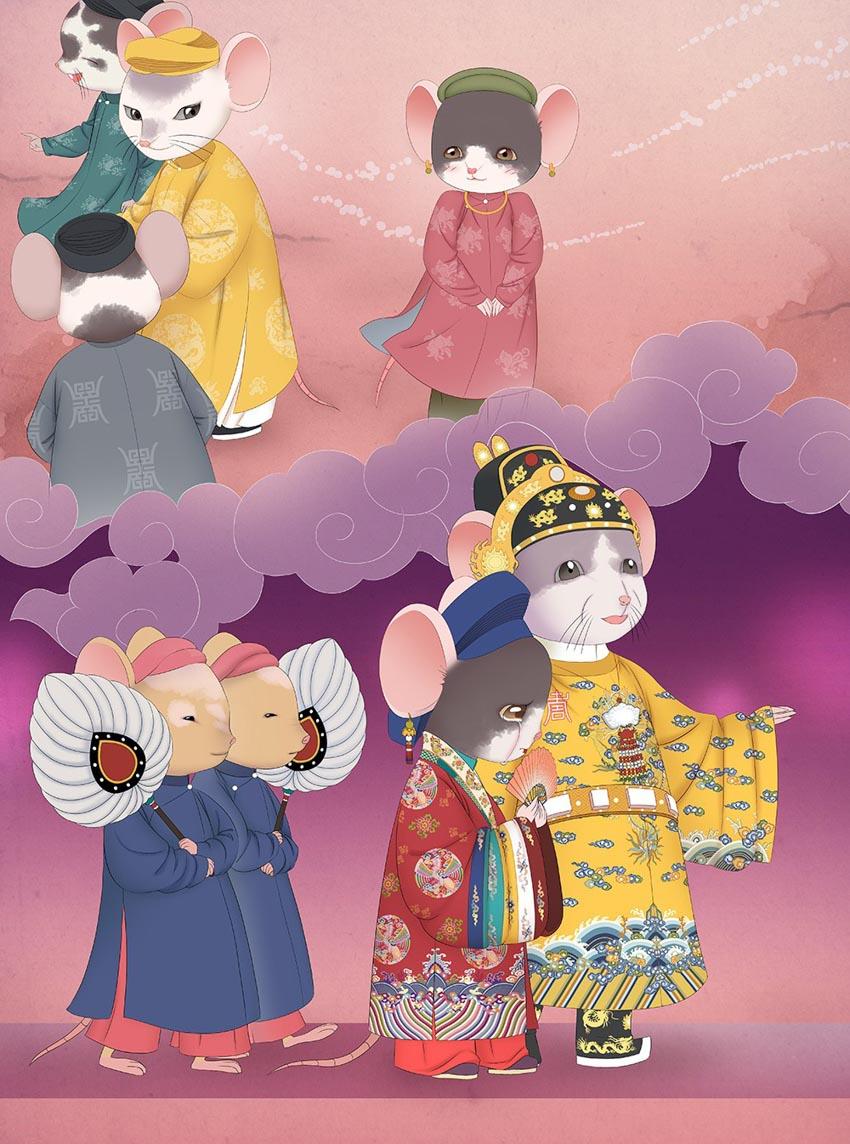 Tạo hình chuột độc đáo trong bộ lịch mừng năm mới 2020-11