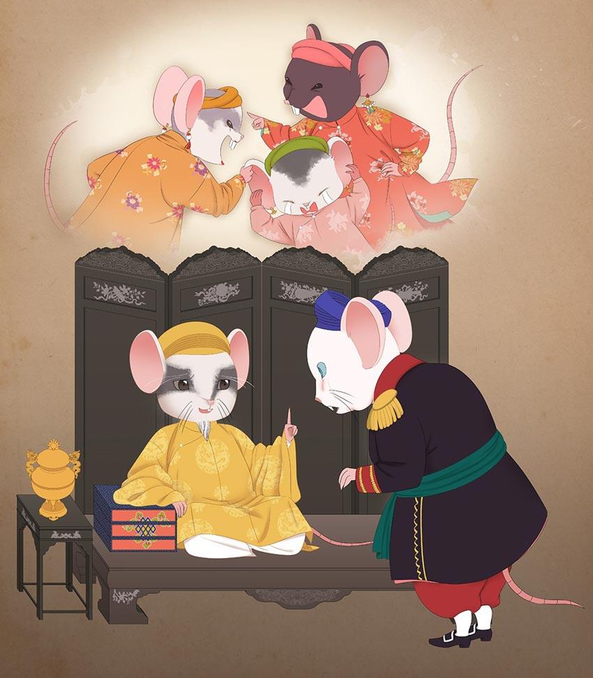 Tạo hình chuột độc đáo trong bộ lịch mừng năm mới 2020-2