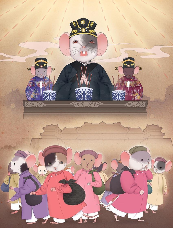 Tạo hình chuột độc đáo trong bộ lịch mừng năm mới 2020-3