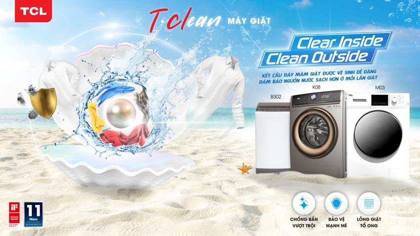 TCL giới thiệu ḍng máy giặt mới T-Clean tại Việt Nam -1