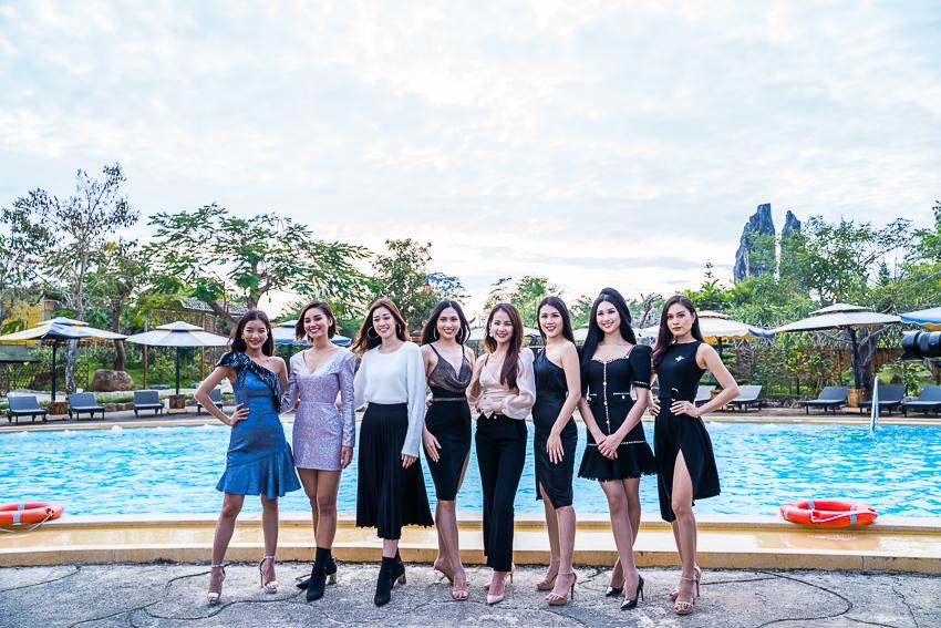 Hoa hậu Hoàn vũ Khánh Vân cùng 2 Á hậu nhận quà tặng từ Tea Resort - 2