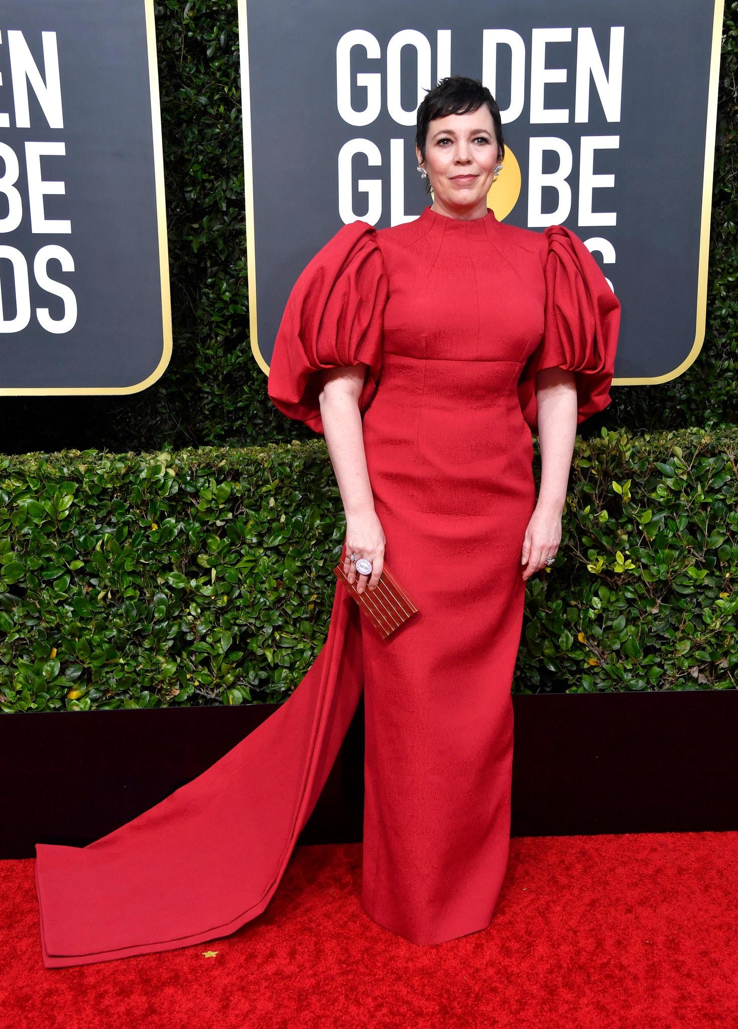 Thảm đỏ Quả Cầu Vàng 2020 Olivia Colman
