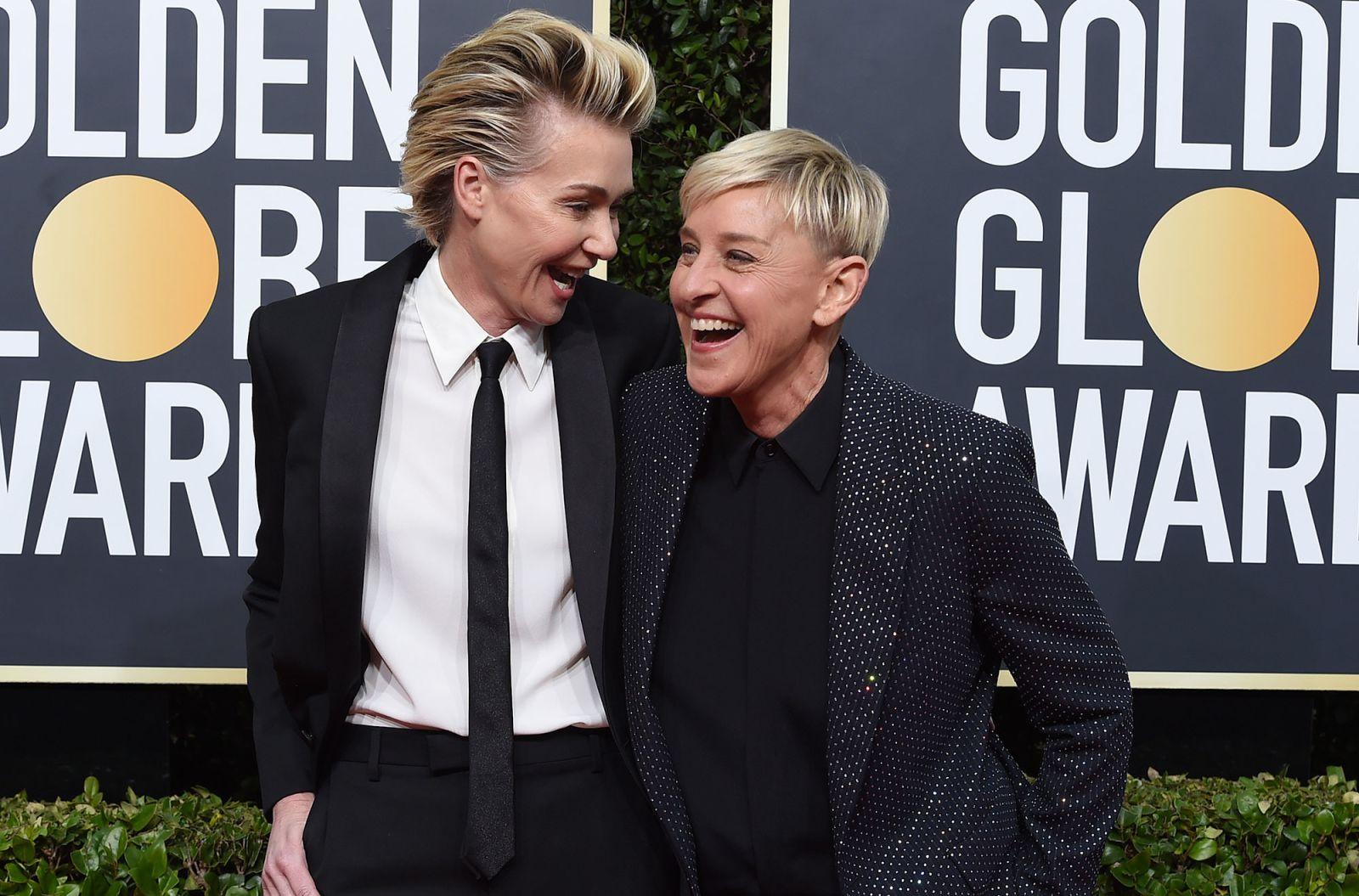 Thảm đỏ Quả Cầu Vàng 2020 Ellen và Portia