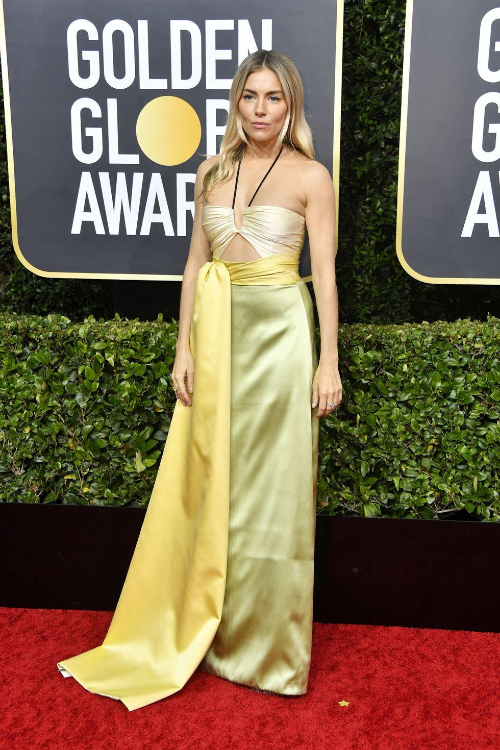 Thảm đỏ quả cầu vàng 2020 Sienna Miller