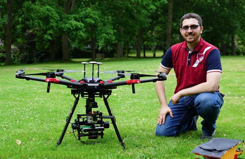Bilal Kaddouh thuộc nhóm nghiên cứu về tương lai robot tại Đại học Leeds ở Anh.