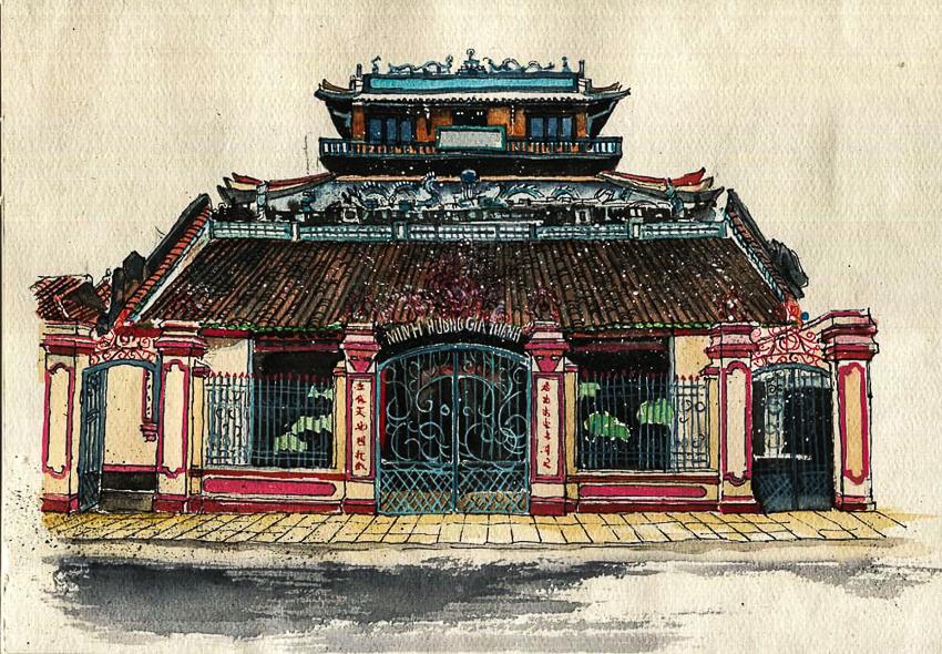 Dấu tích Sài Gòn - Chợ Lớn trong tranh Phạm Công Tâm - 1