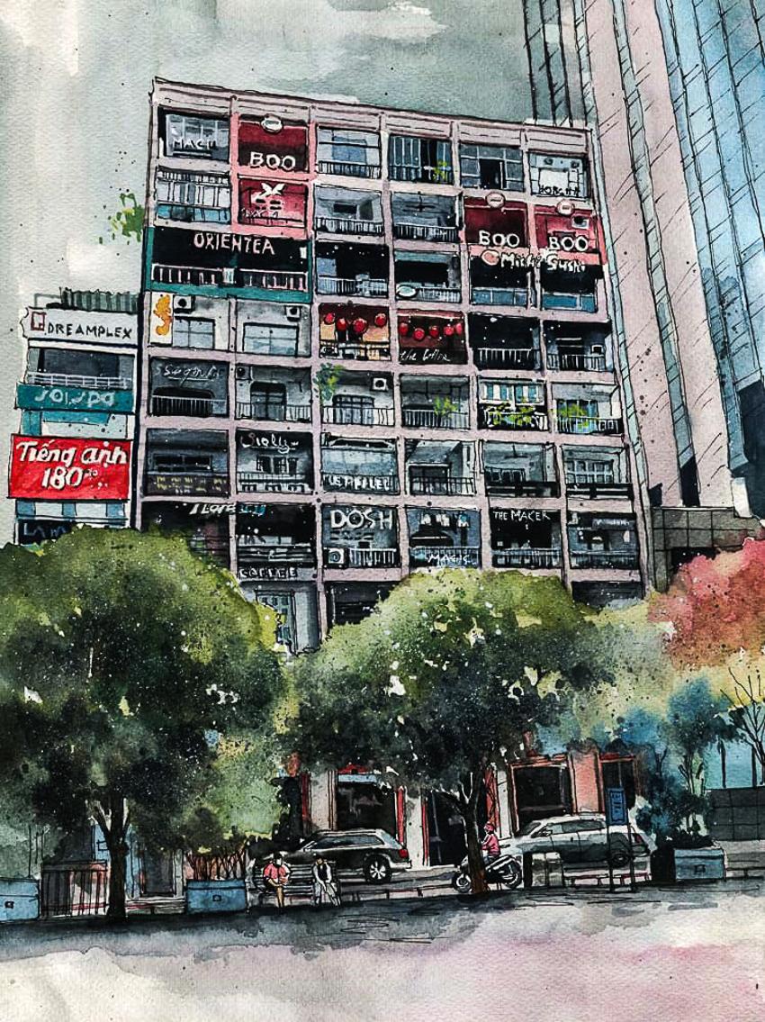 Dấu tích Sài Gòn - Chợ Lớn trong tranh Phạm Công Tâm - 3