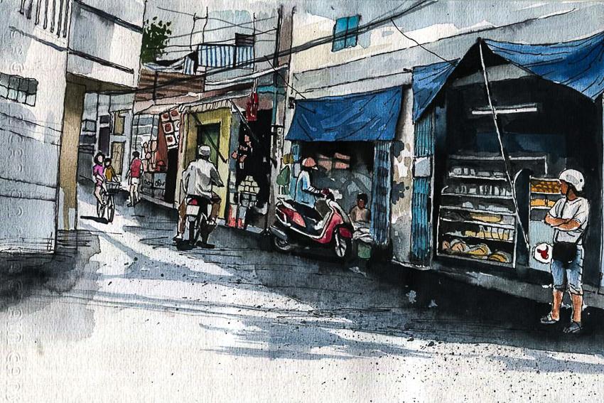 Dấu tích Sài Gòn - Chợ Lớn trong tranh Phạm Công Tâm - 5