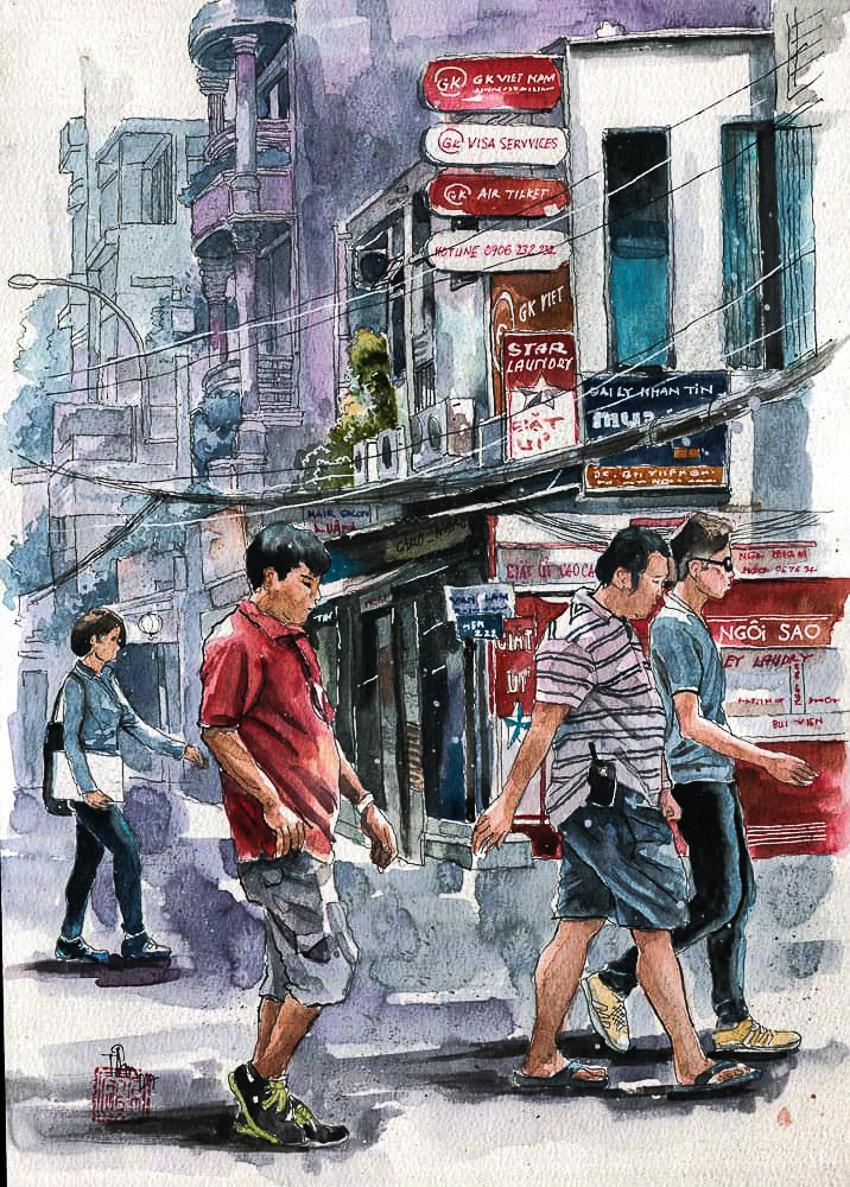 Dấu tích Sài Gòn - Chợ Lớn trong tranh Phạm Công Tâm - 6