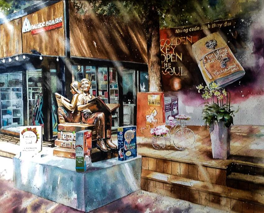 Dấu tích Sài Gòn - Chợ Lớn trong tranh Phạm Công Tâm - 8