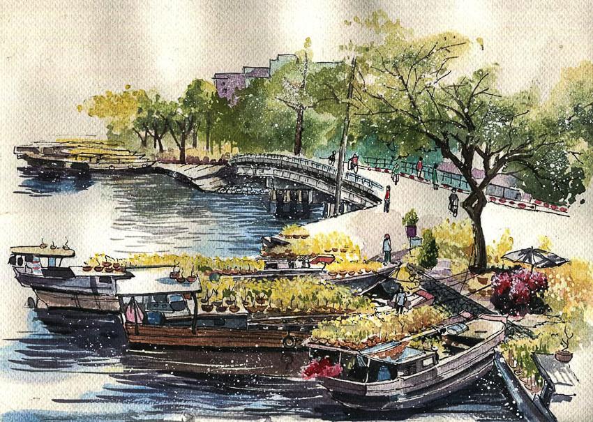 Dấu tích Sài Gòn - Chợ Lớn trong tranh Phạm Công Tâm - 9