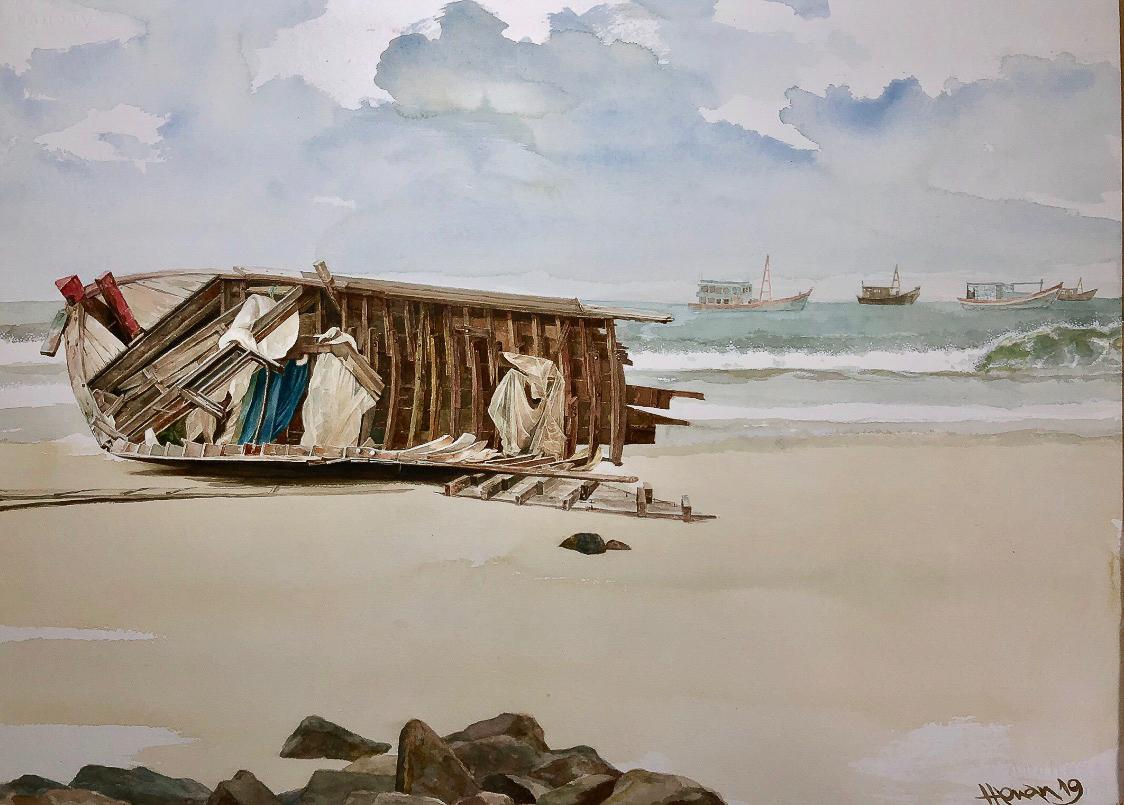 """Một thoáng """"Sông nước miền Tây"""" nên thơ của họa sĩ Hồng Quân - 01"""