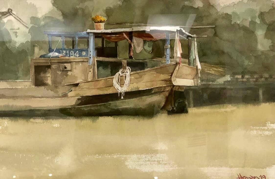 """Một thoáng """"Sông nước miền Tây"""" nên thơ của họa sĩ Hồng Quân - 15"""