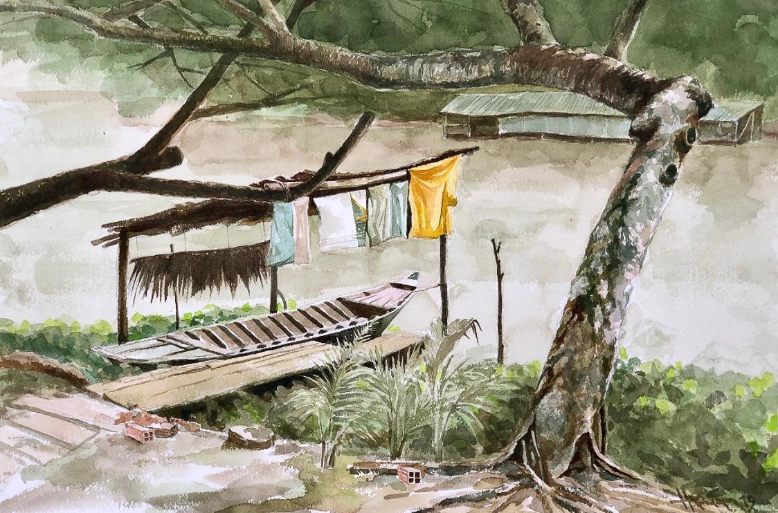 """Một thoáng """"Sông nước miền Tây"""" nên thơ của họa sĩ Hồng Quân - 19"""