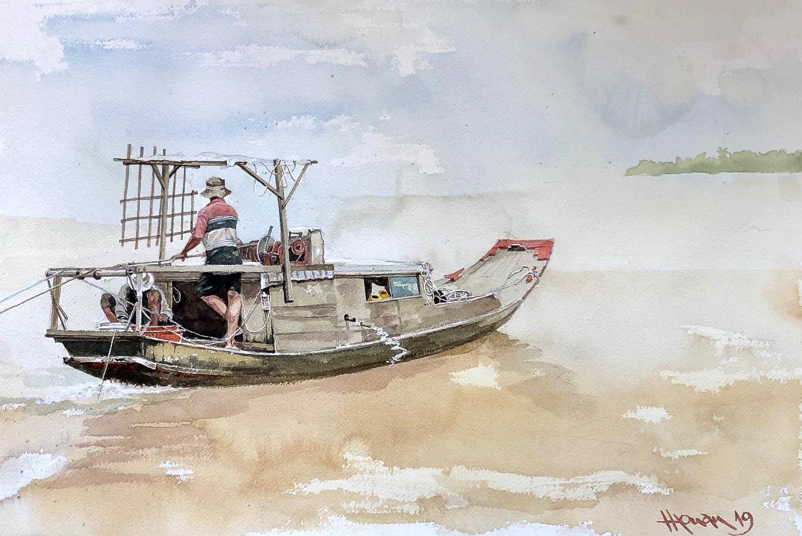 """Một thoáng """"Sông nước miền Tây"""" nên thơ của họa sĩ Hồng Quân - 02"""