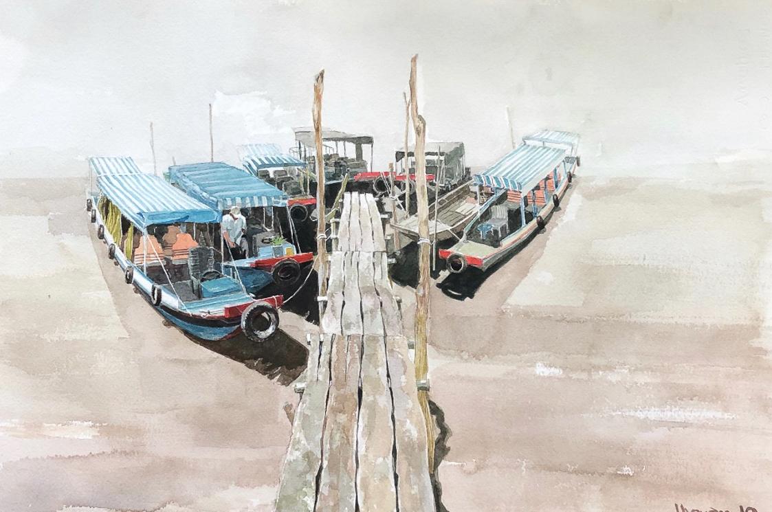 """Một thoáng """"Sông nước miền Tây"""" nên thơ của họa sĩ Hồng Quân - 24"""