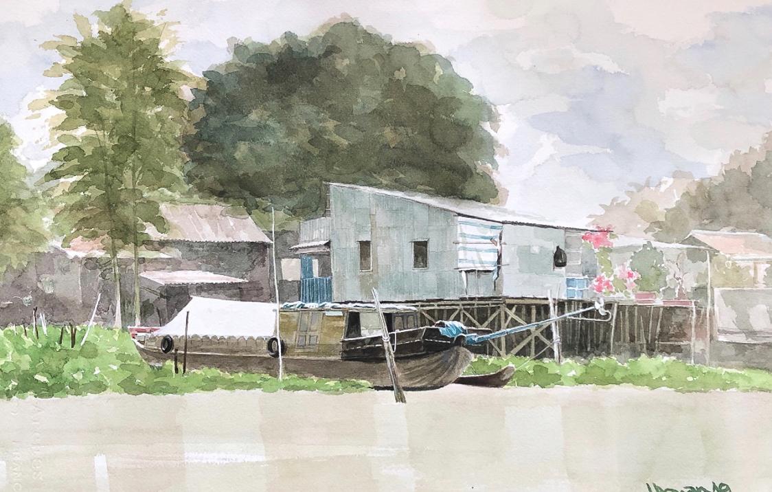 """Một thoáng """"Sông nước miền Tây"""" nên thơ của họa sĩ Hồng Quân - 28"""