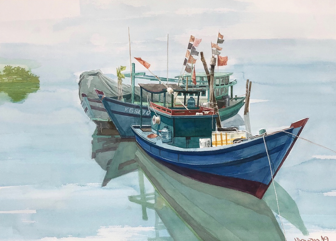 """Một thoáng """"Sông nước miền Tây"""" nên thơ của họa sĩ Hồng Quân - 38"""