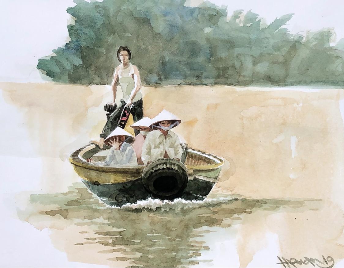 """Một thoáng """"Sông nước miền Tây"""" nên thơ của họa sĩ Hồng Quân - 48"""