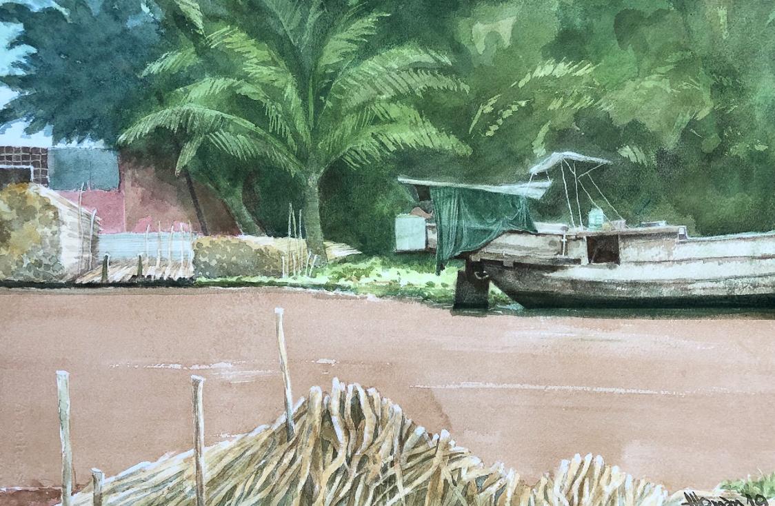 """Một thoáng """"Sông nước miền Tây"""" nên thơ của họa sĩ Hồng Quân - 57"""