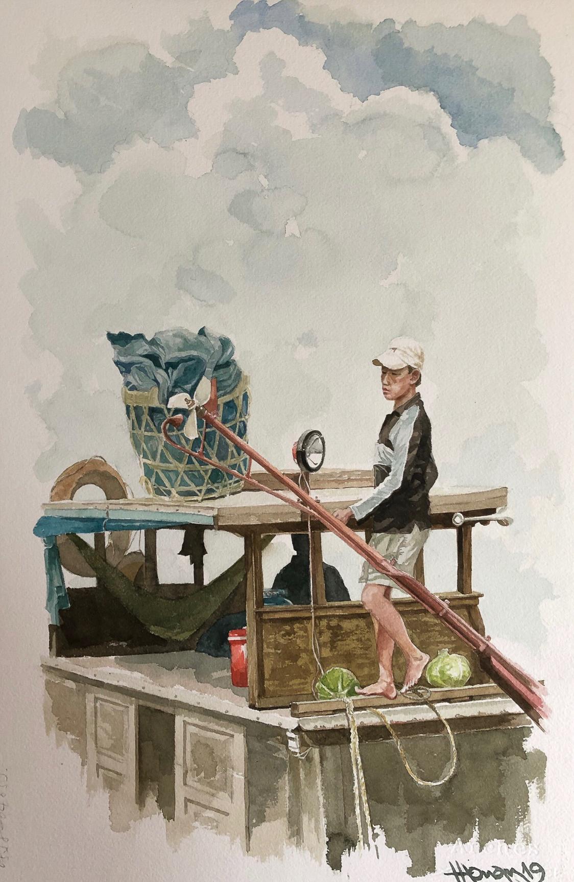 """Một thoáng """"Sông nước miền Tây"""" nên thơ của họa sĩ Hồng Quân - 06"""