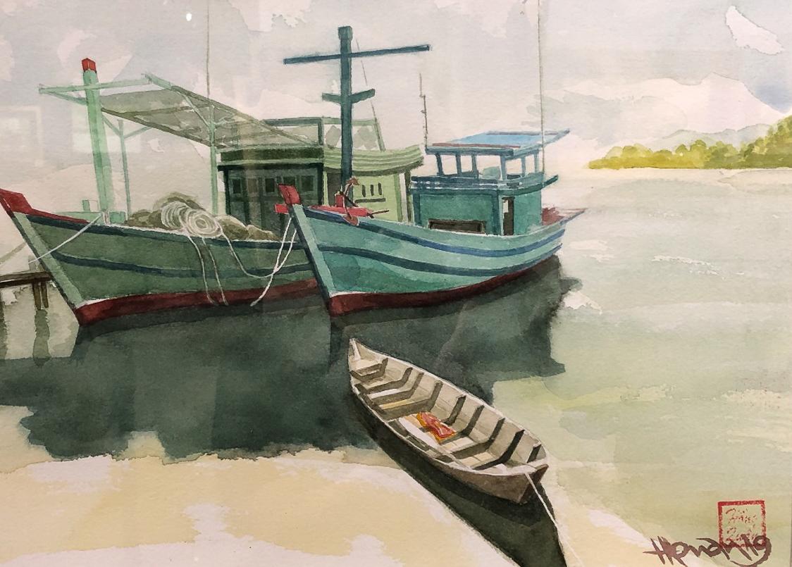 """Một thoáng """"Sông nước miền Tây"""" nên thơ của họa sĩ Hồng Quân - 62"""