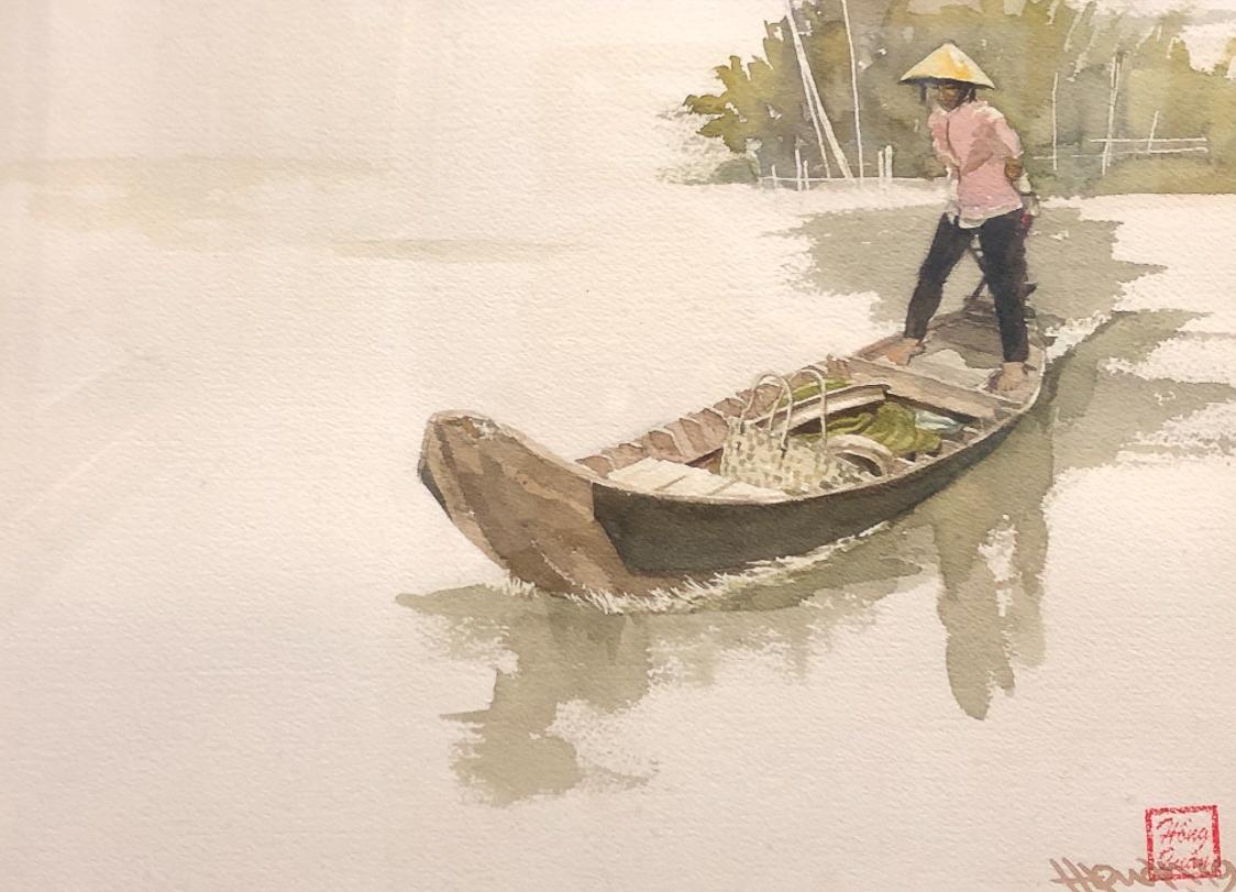"""Một thoáng """"Sông nước miền Tây"""" nên thơ của họa sĩ Hồng Quân - 66"""