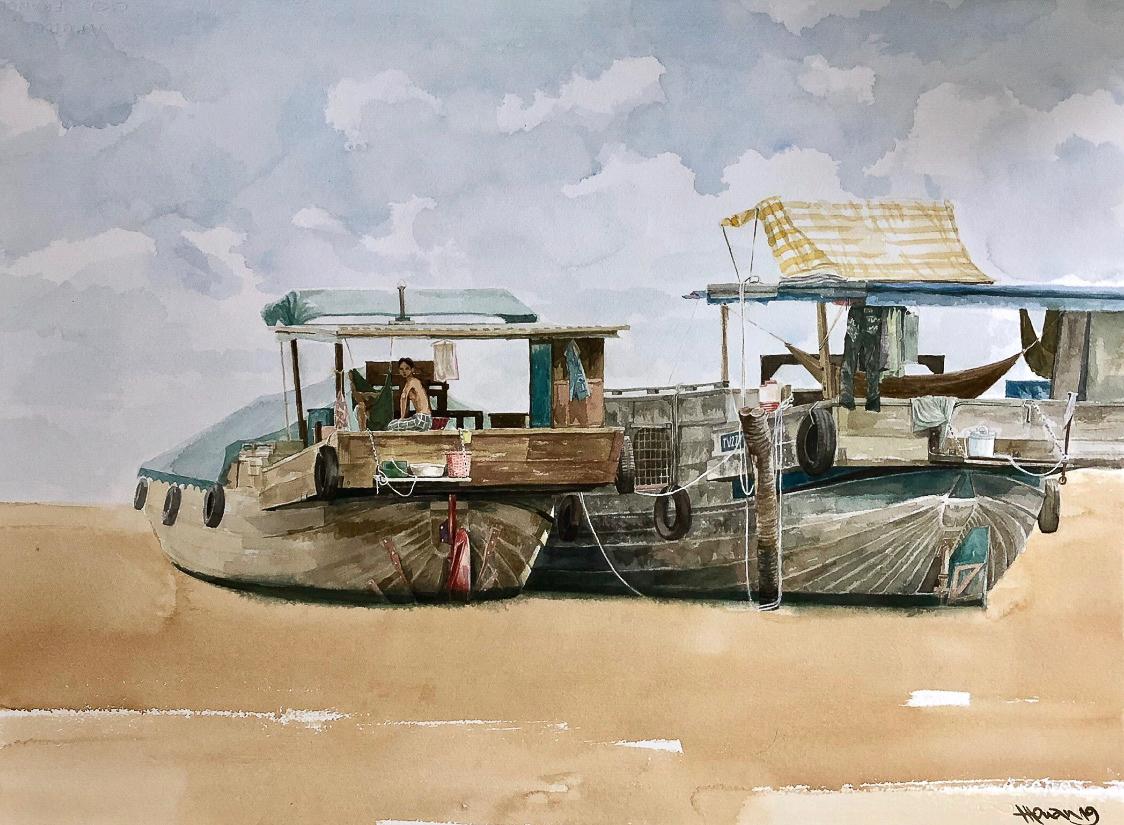 """Một thoáng """"Sông nước miền Tây"""" nên thơ của họa sĩ Hồng Quân - 07"""