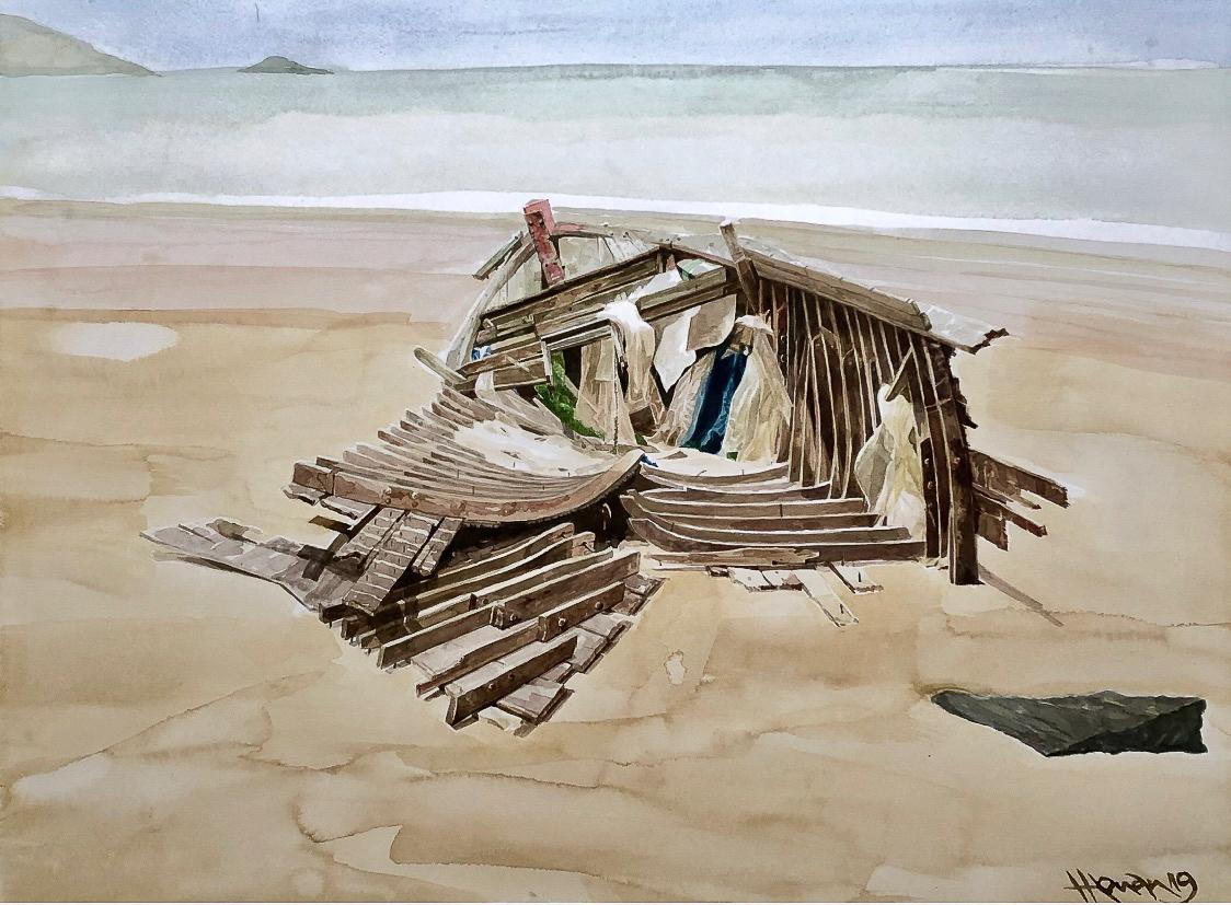 """Một thoáng """"Sông nước miền Tây"""" nên thơ của họa sĩ Hồng Quân - 08"""