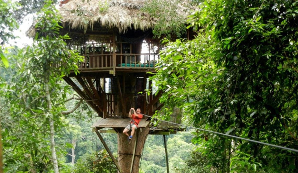 Thú vị với nhà trên cây ở Lào -10