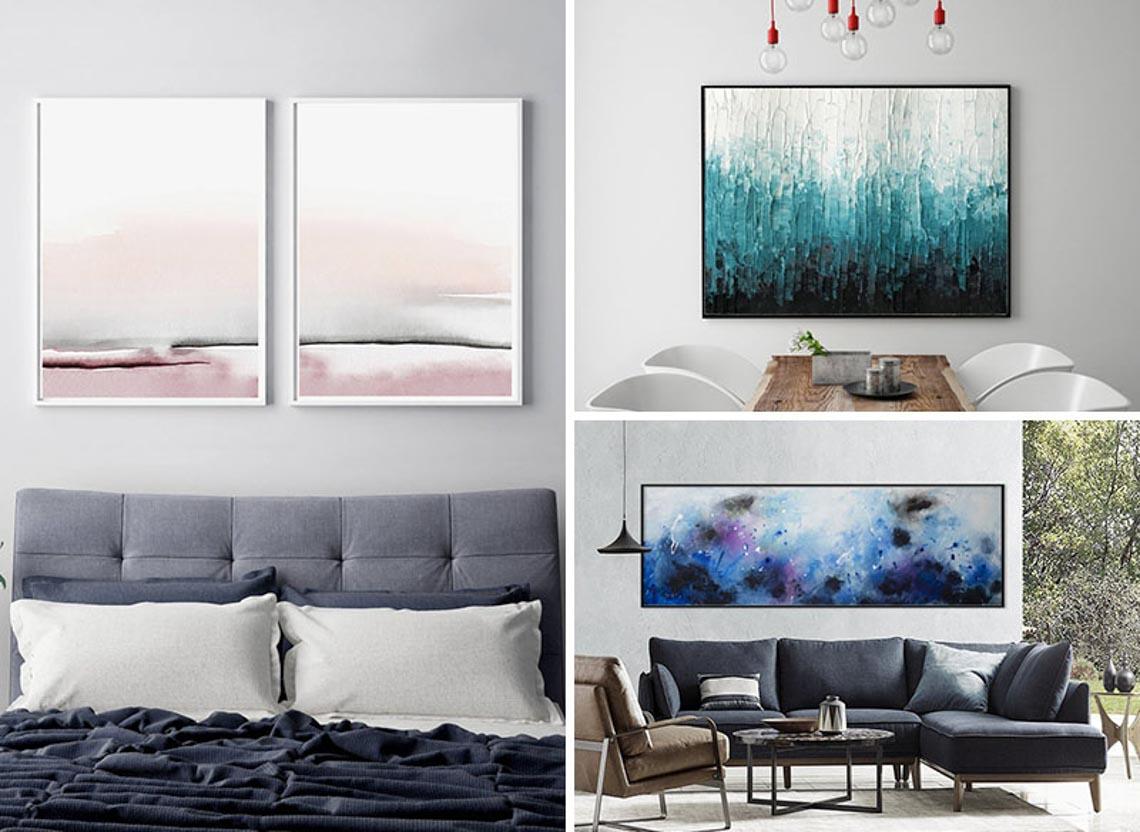 25 thiết kế tranh nghệ thuật trừu tượng cho bức tường thêm thú vị-26