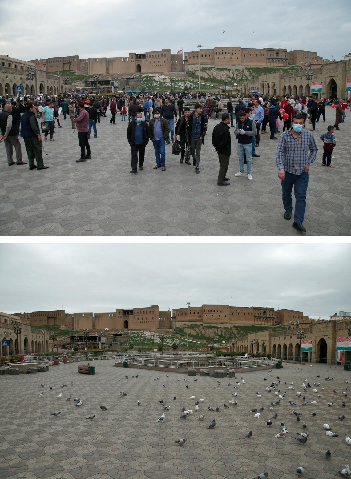 Chùm ảnh: Thế giới trước và sau cơn sóng thần COVID-19 -11