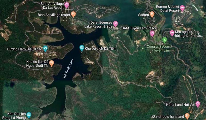 Đà Lạt có sân golf 18 lỗthuộc Khu du lịch quốc gia hồ Tuyền Lâm -2