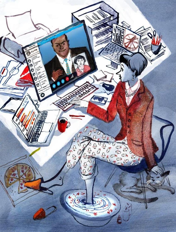 Làm việc ở nhà: Coi chừng 'ở' nhiều hơn 'làm' -1