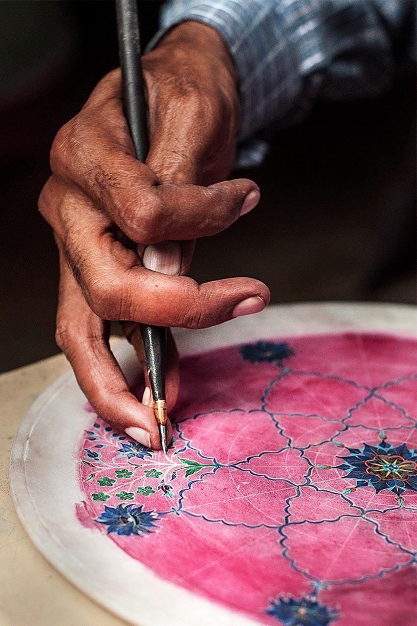 Nghệ phẩm khảm đá Pietra Dura -10