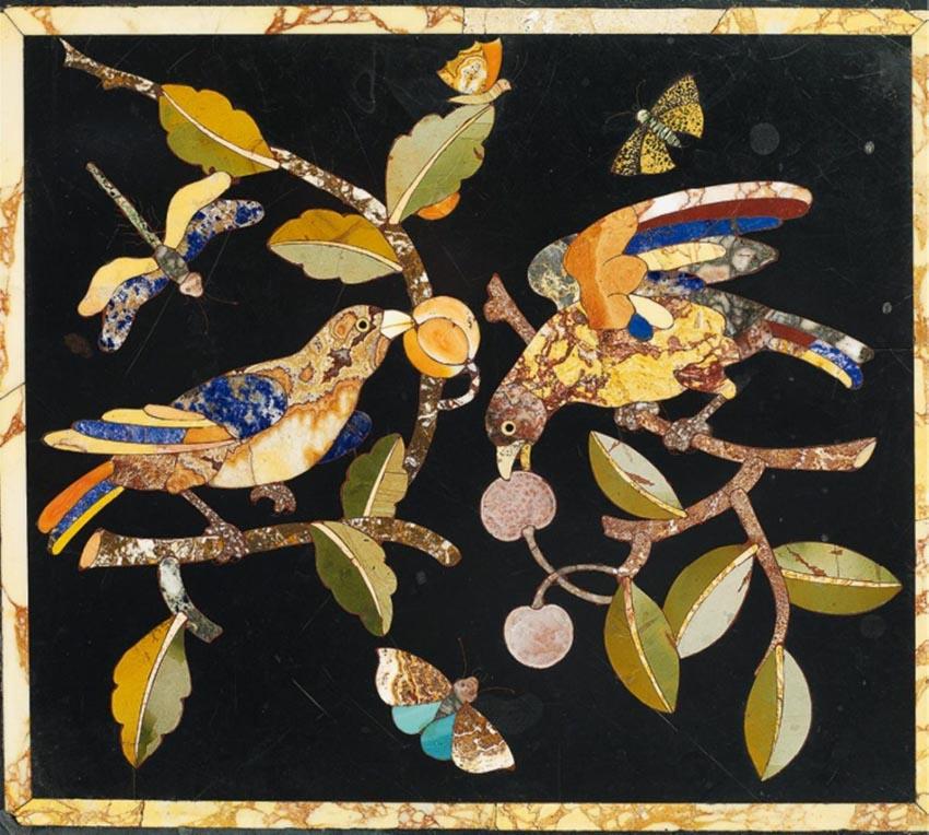 Nghệ phẩm khảm đá Pietra Dura -8