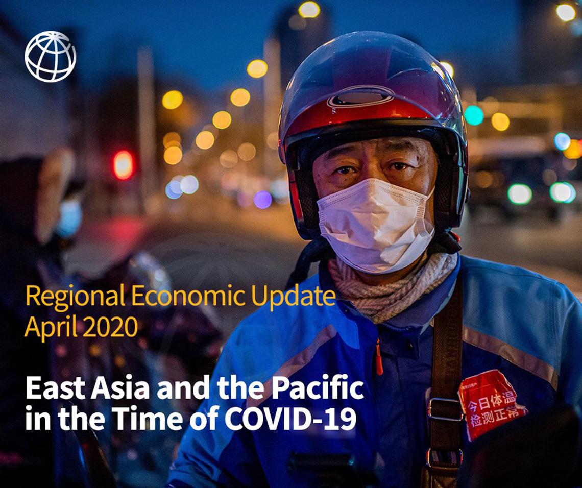 """Trang bìa bản báo cáo """"Đông Á và Thái Bình Dương (EAP) trong thời thời kỳ Covid-19"""" của Ngân hàng Thế giới. Ảnh: WordBank.org"""