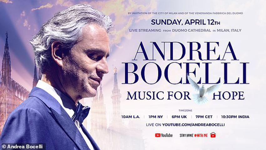 Andrea Bocelli khiến 3,4 triệu người rơi nước mắt khi xem buổi hòa nhạc Music For Hope trực tiếp từ Duomo di Milano - 3
