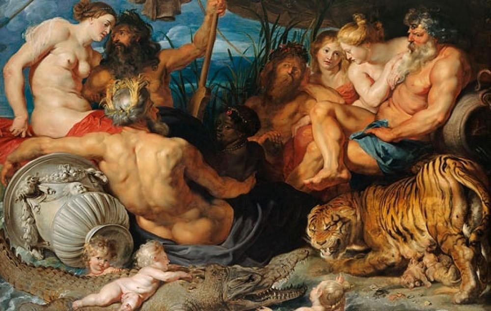 Tác phẩm Bốn dòng sông của Vườn Địa đàng (The Four Rivers of Paradise) của danh họa Rubens là hiện tượng khác thường khi mô tả một nhân vật phụ nữ da đen đầy quyền lực tại tâm điểm bức tranh