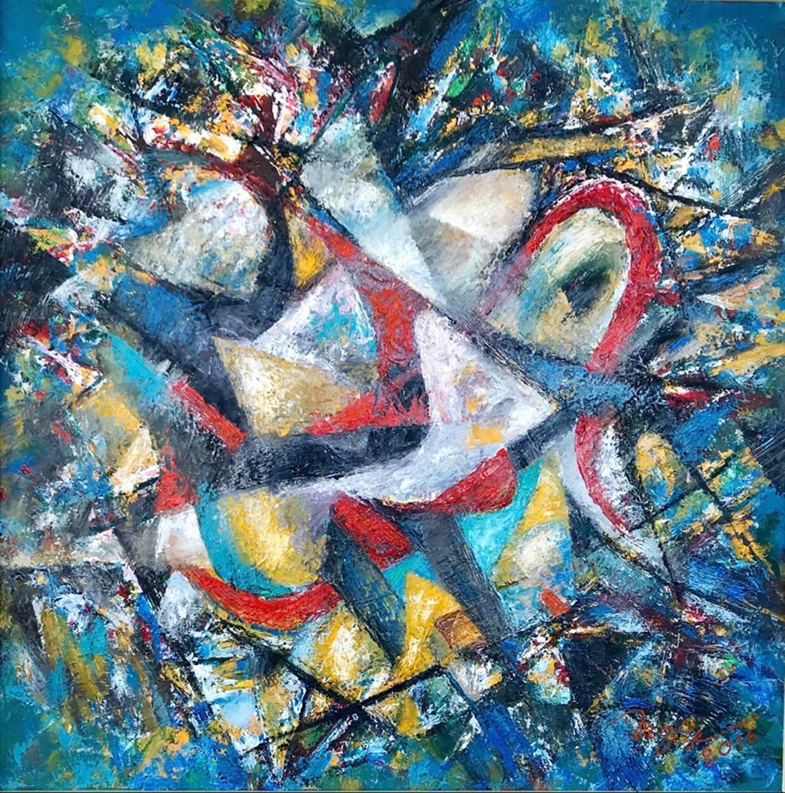 Vũ trụ hội họa của họa sĩ Trương Bé -13