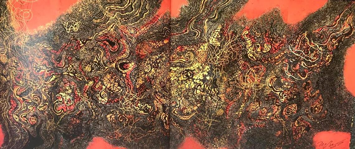 Vũ trụ hội họa của họa sĩ Trương Bé -8