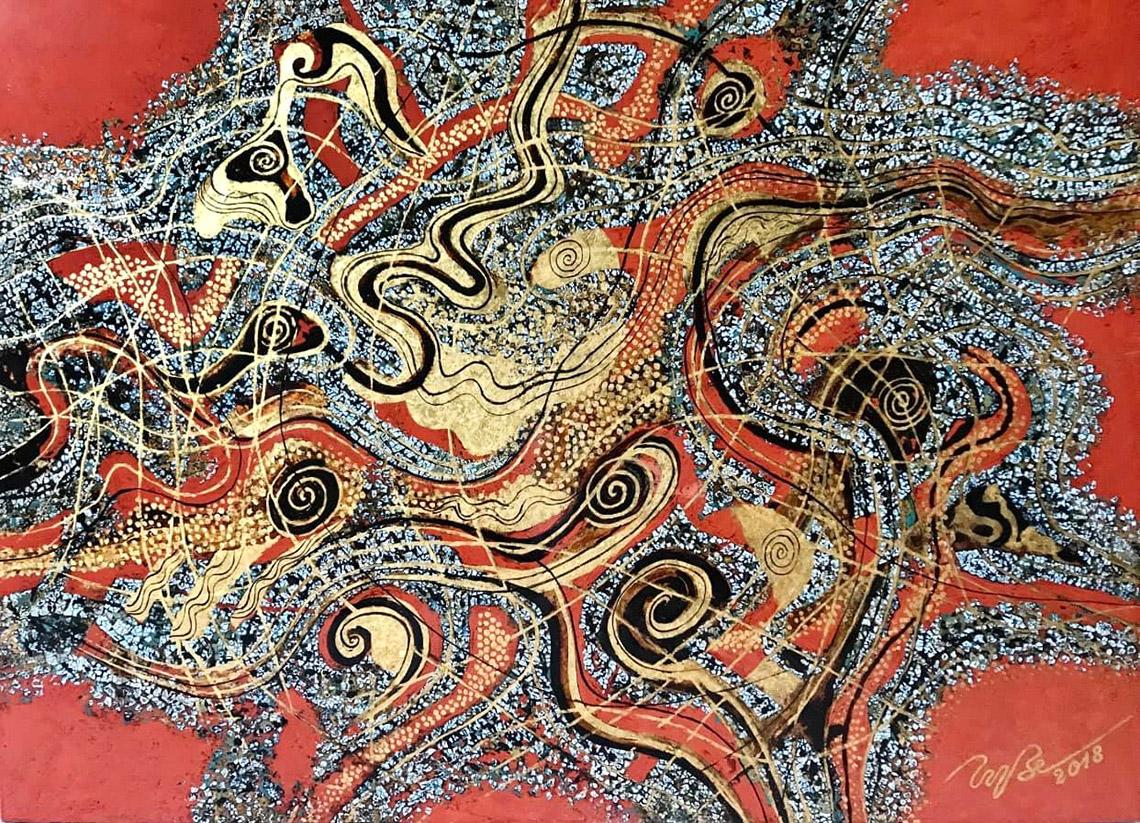 Vũ trụ hội họa của họa sĩ Trương Bé -9