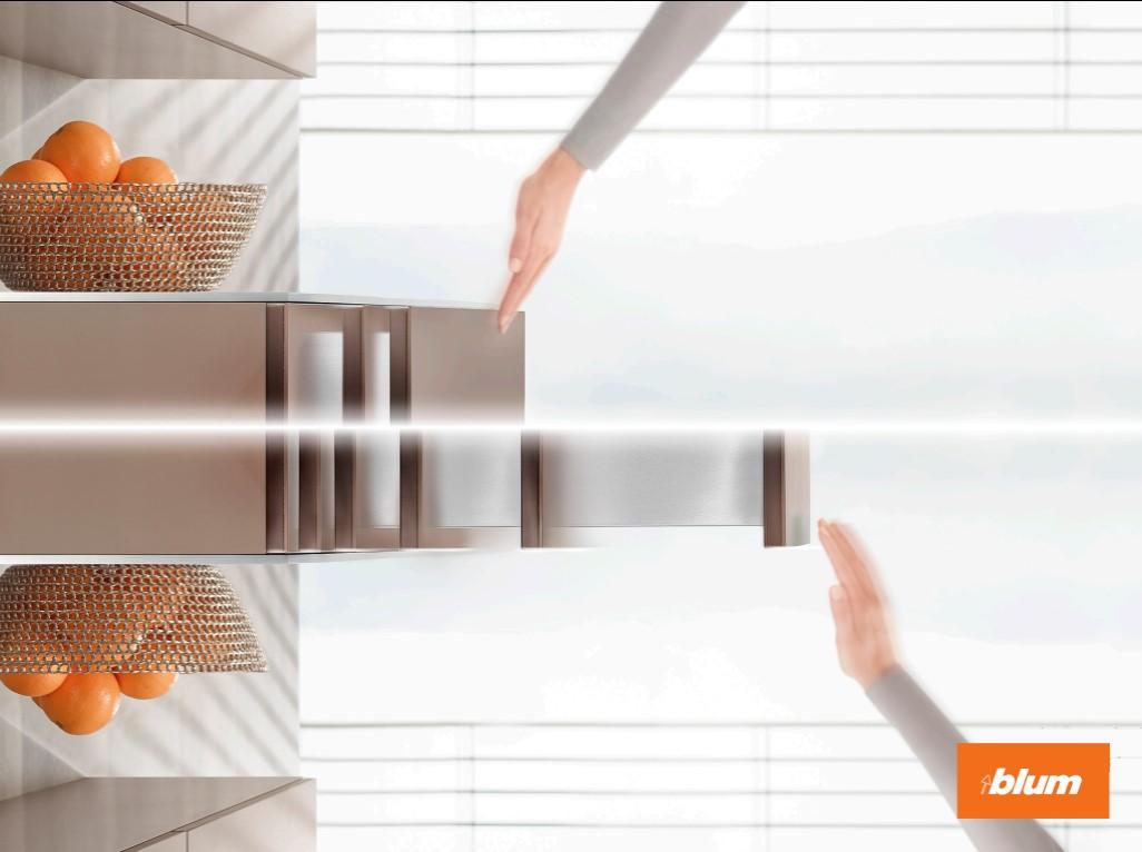 Tủ nội thất từ nay không cần tay nắm vì đã có công nghệ tự động từ Blum